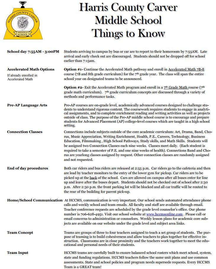 6th To 7th Grade Info 6th Grade Transition